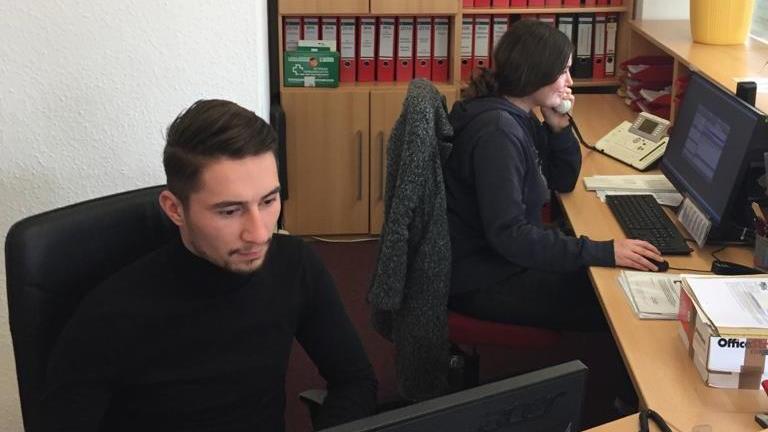Merkur Zeitarbeit Standort Friedrichshafen Innenansicht